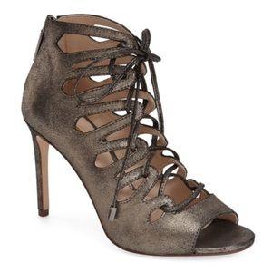 Louise et Cie 'Kacy' caged leather gunmetal sandal